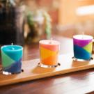 Aprenda a fazer velas coloridas de giz de cera