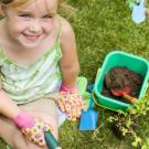 Plante um pé de feijão com o seu filho
