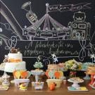 Chalkboard na decoração da festa de aniversário da criançada